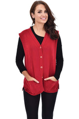 Ladies Knitted Waistcoat (Pack of 8) £6.50 Per Garment