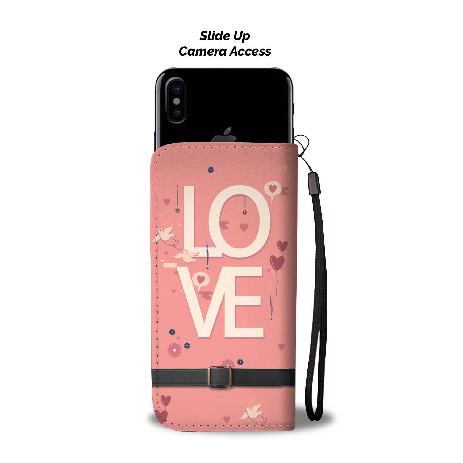 Love Theme Wallet Phone Case - Hifza Apparel