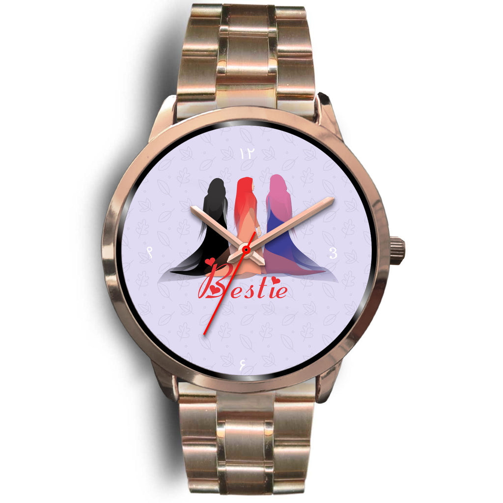 Bestie Rose Gold Watch - Hifza Apparel