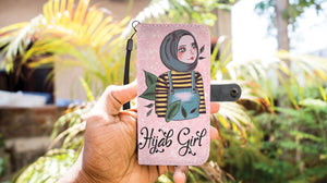 Hijab Girl Wallet Case - Hifza Apparel