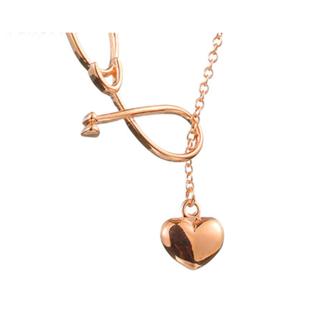 New Heart Shape Medical Professional Necklace - Hifza Apparel