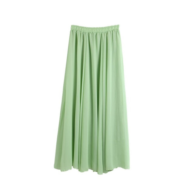 Pleated Chiffon Skirt - Hifza Apparel