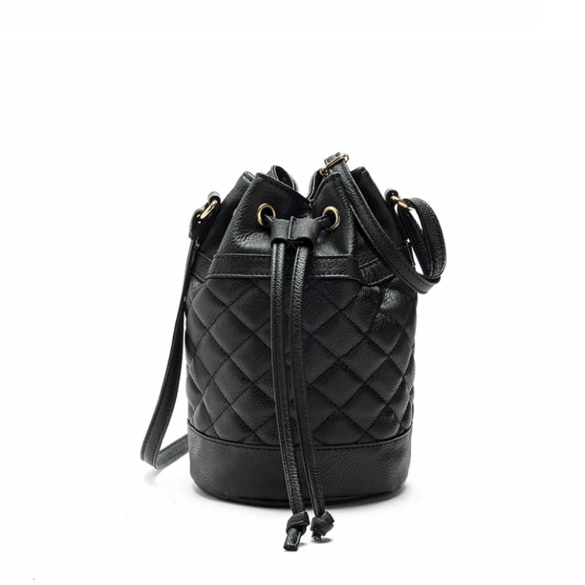 Leather Quilted  Bucket Shoulder bag - Hifza Apparel