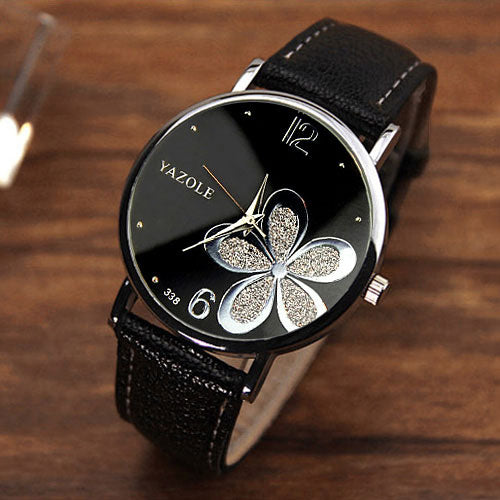Flower Design Crystal Watch - Hifza Apparel