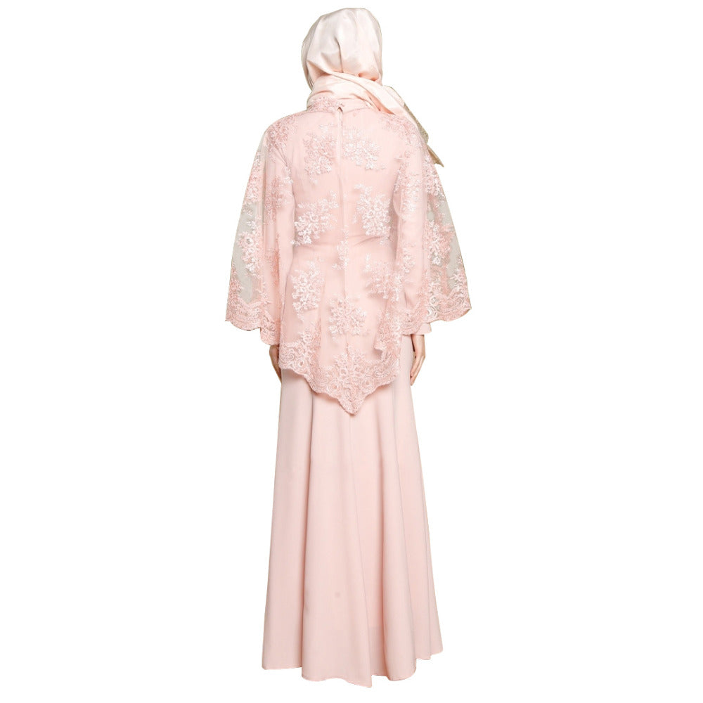Lace Cloak Party Dress - Hifza Apparel