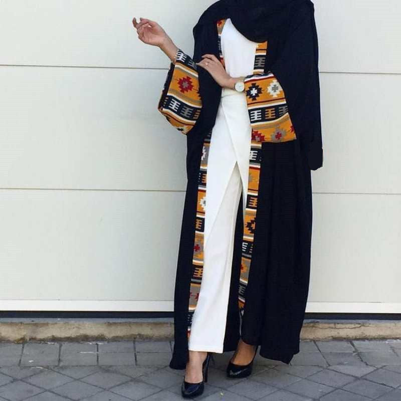 Print Dress Cardigan Long Robe - Hifza Apparel