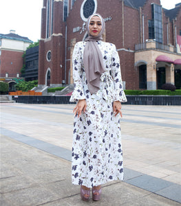 Floral Print  Long Dress - Hifza Apparel