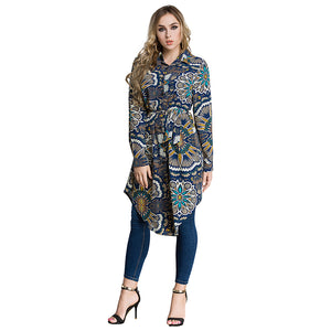 Malaysian Style  Flowers Print Top - Hifza Apparel
