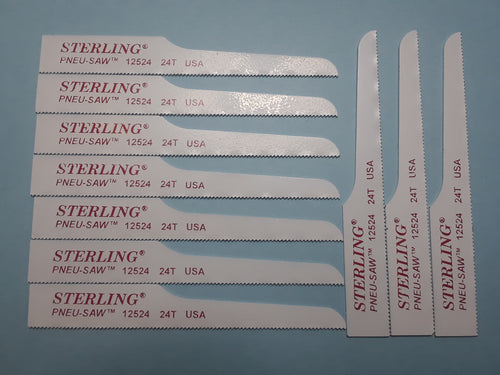 Item #2004     Mini Saw Blade 10 pack of 24T 3 1/2 inch made in the USA *MOST COMMON FOR THIS STYLE*