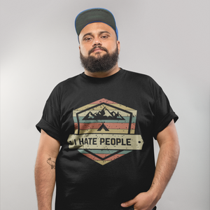 I Hate People - T-Shirt Herren