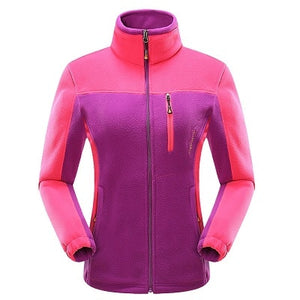 Damen Outdoor Fleece Softshell Jacke