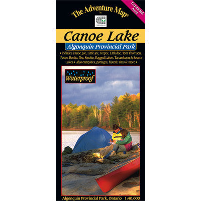 Algonquin Provincial Park 7 Canoe Lake Tom Thomson Lake Map