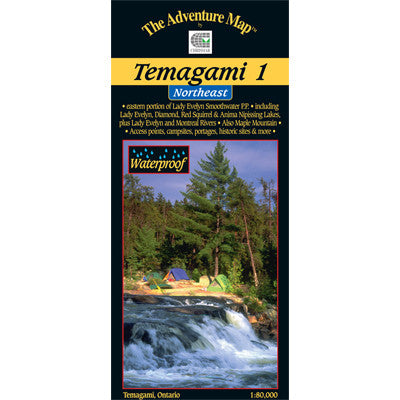 Temagami 1 Northeast Map