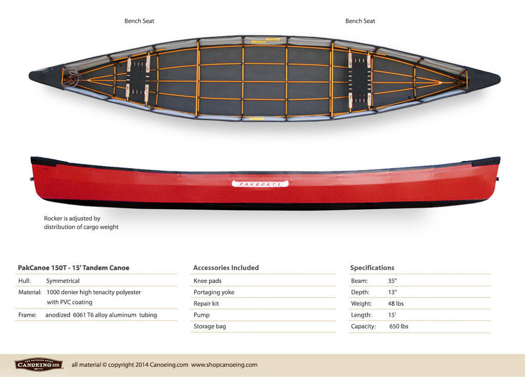 PakCanoe 150T - 15' Tandem Folding Canoe by Pakboats