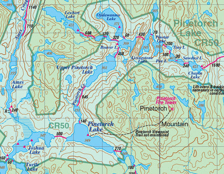Temagami 4 Northwest & Sturgeon River Map