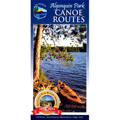 Algonquin Provincial Park Canoe Routes Planning Map