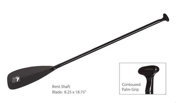 Bending Branches Black Pearl Bent Shaft Carbon Canoe Paddle
