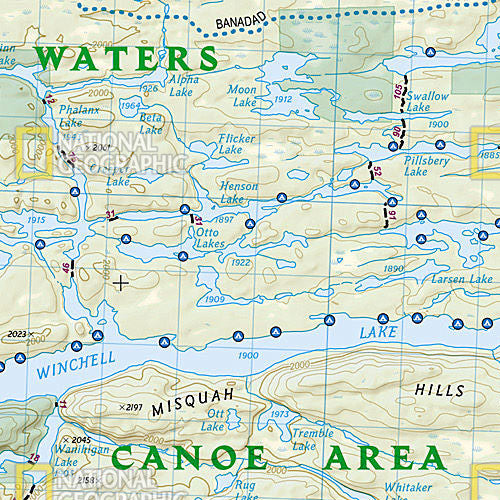 Boundary Waters Canoe Area Wilderness East Map