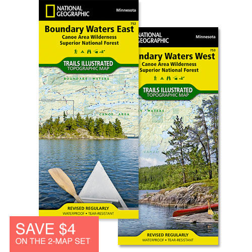 Boundary Waters Canoe Area Wilderness East And West 2 Map Set