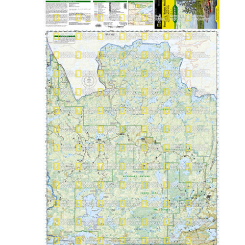 Boundary Waters Canoe Area Wilderness East and West 2-Map Set