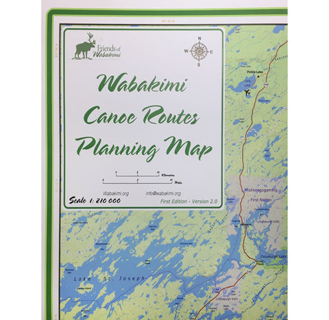 Wabakimi Canoe Routes Planning Map