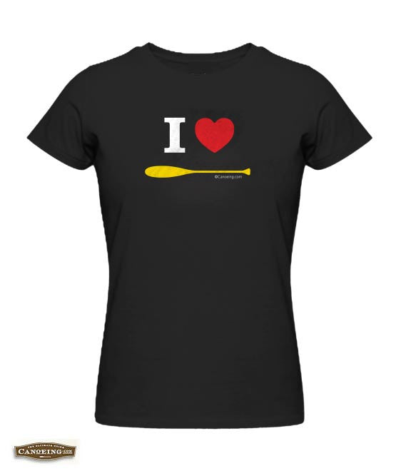 I Love Paddling T-Shirt Womens