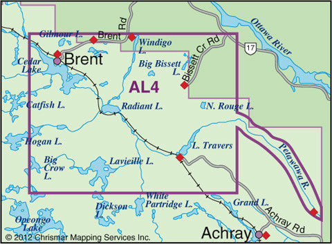 Algonquin Provincial Park 4 Central North Map