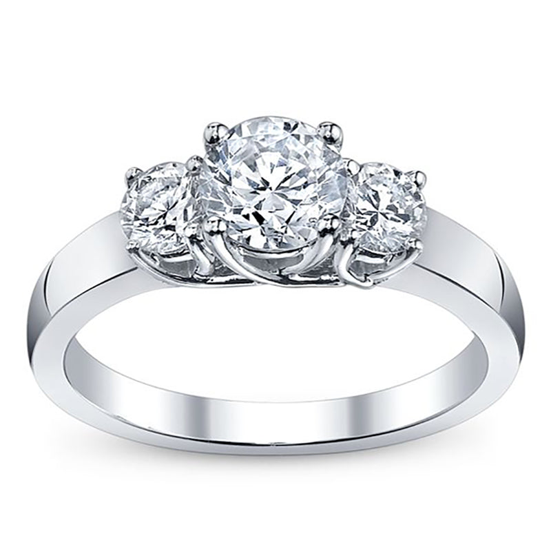 Triple Round Engagement Ring