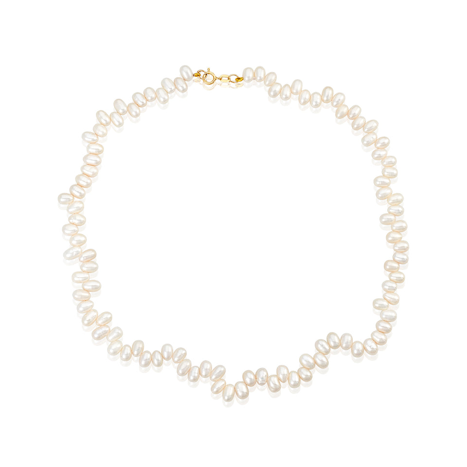 "18"" Fresh-Water Rice Pearl Necklace"