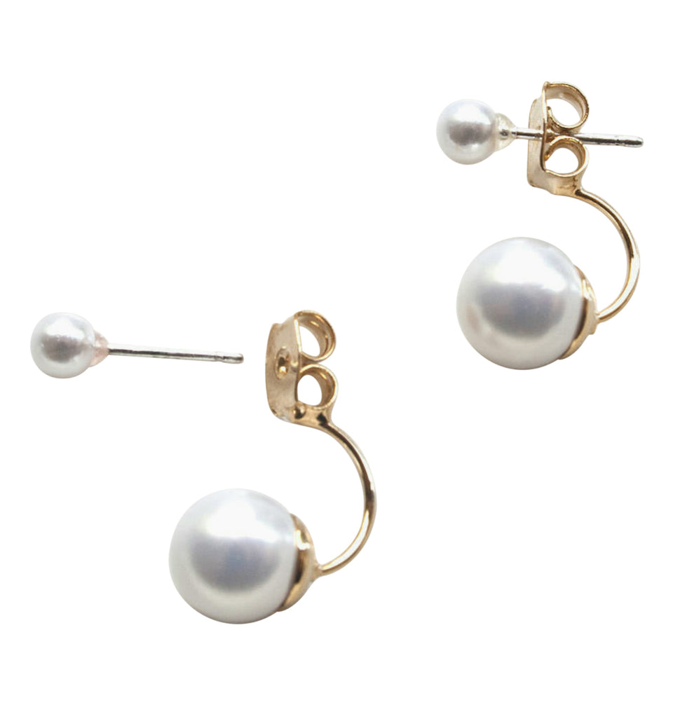 14kt Double Pearl Earrings