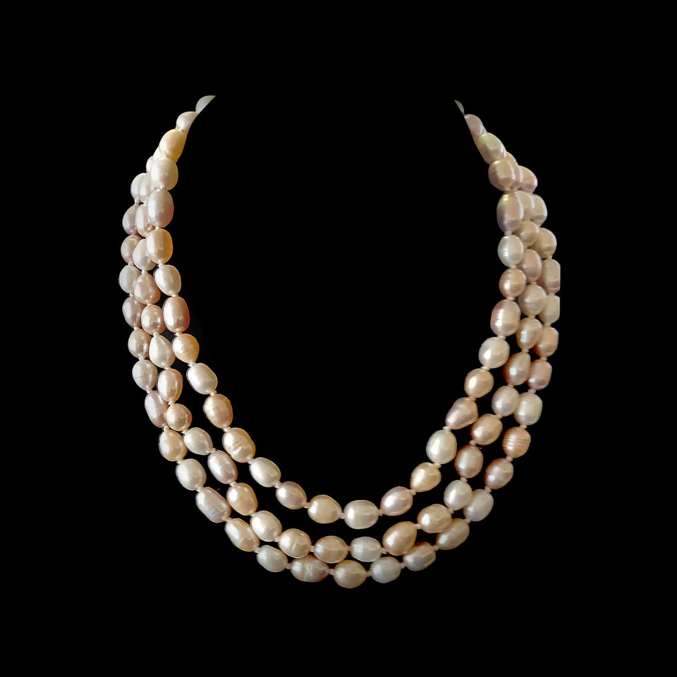 47 Inch Pastel Multi-Colored Pearl Necklace