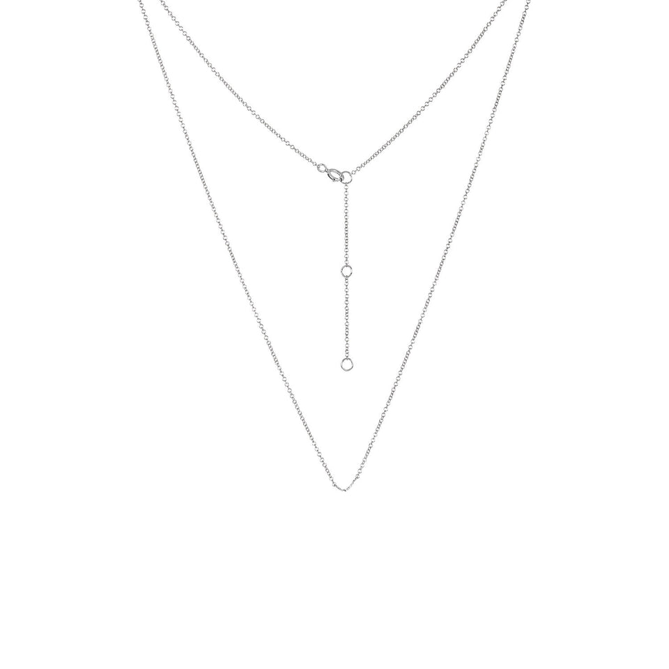 Adjustable White Gold Chain Necklace 16 - 18 inches