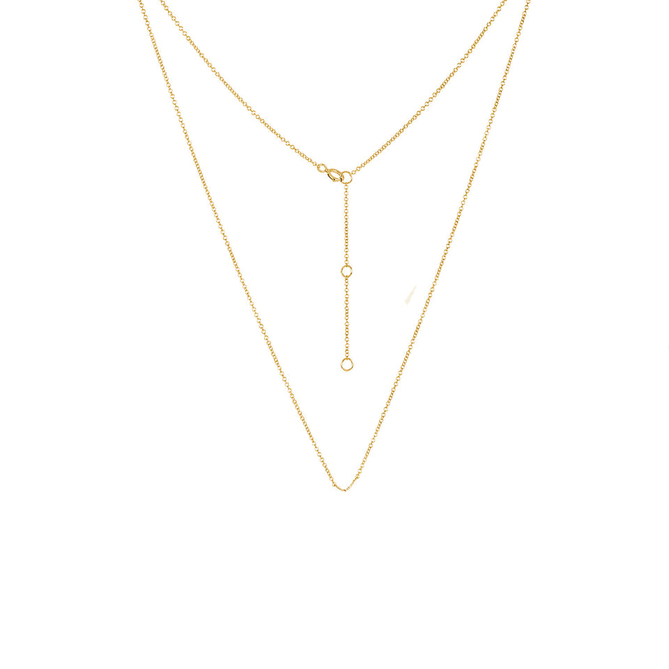 Adjustable Yellow Gold Chain Necklace 16 - 18 inches