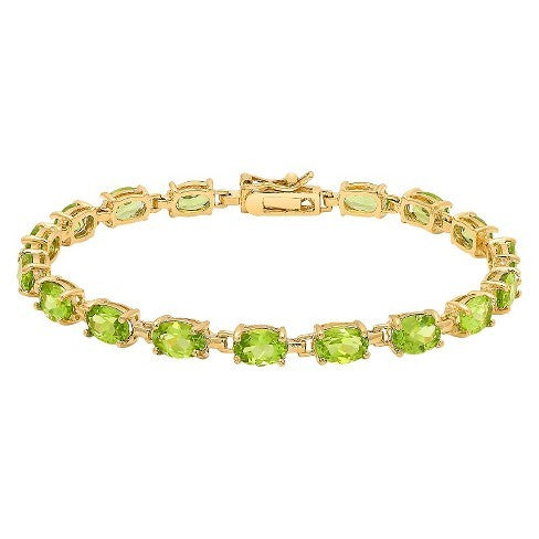 Fancy Peridot Gemstone Bracelet