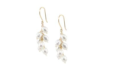 Rice Pearl Cluster Earring