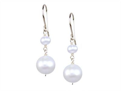 Two Tier Pearl Earring