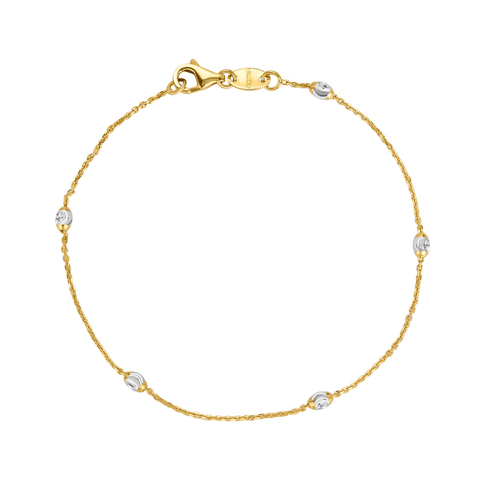 White Gold Ball Anklet