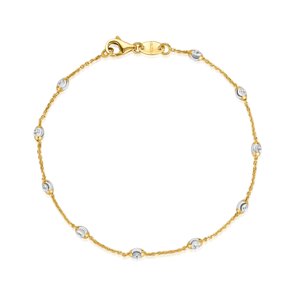 Dainty Rose & White Gold Bracelet