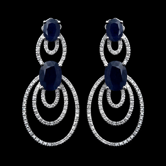 First Impression Custom Collection ~ Diamond & Sapphire Earring