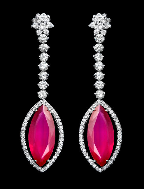First Impression Custom Collection ~ Diamond & Ruby Earring