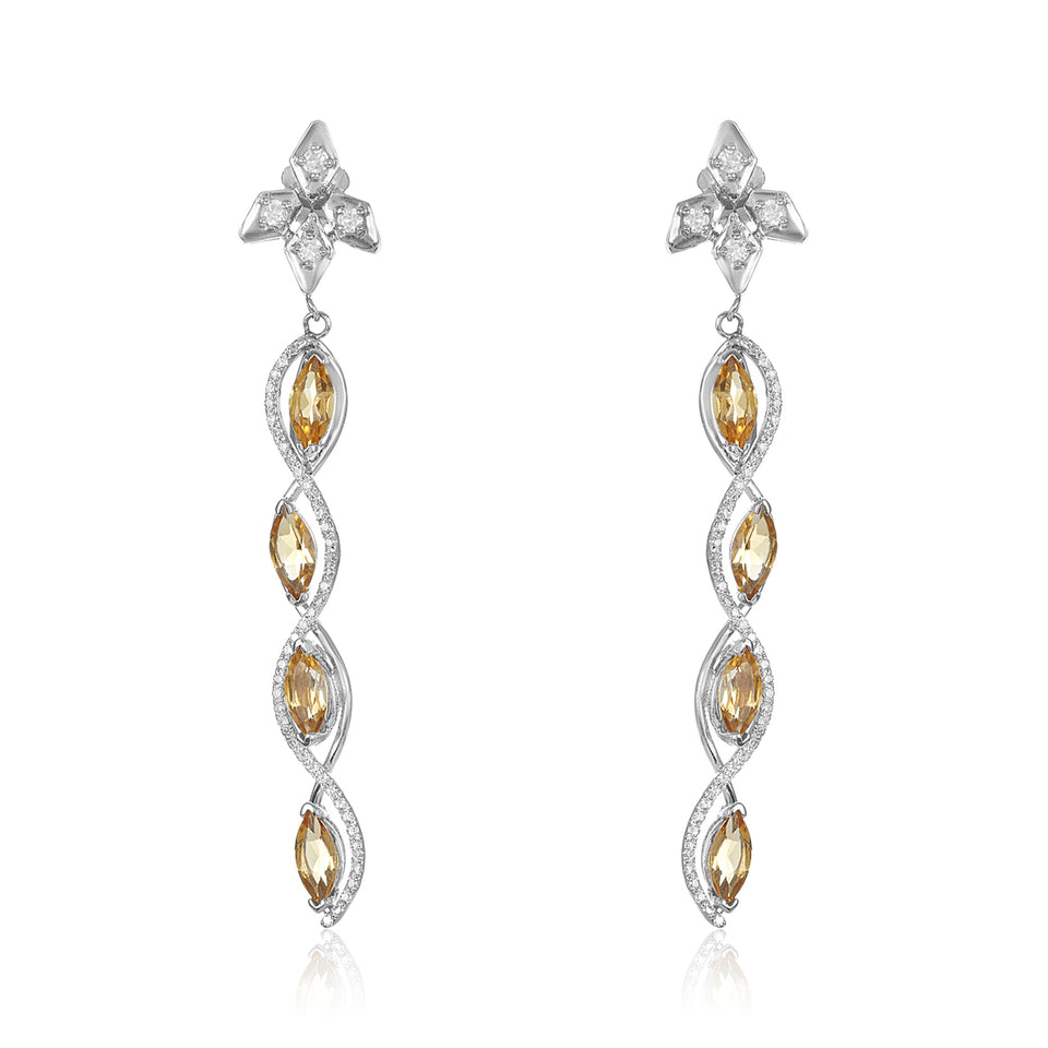 Sizzle Citrine & Diamond Earrings