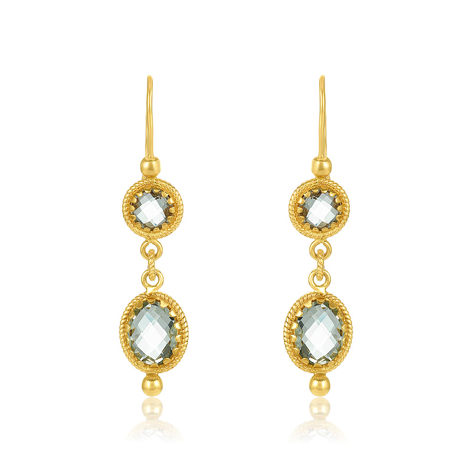 Double Gemstone Earring