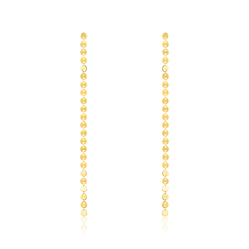 Yellow Gold Endless Circle Earring
