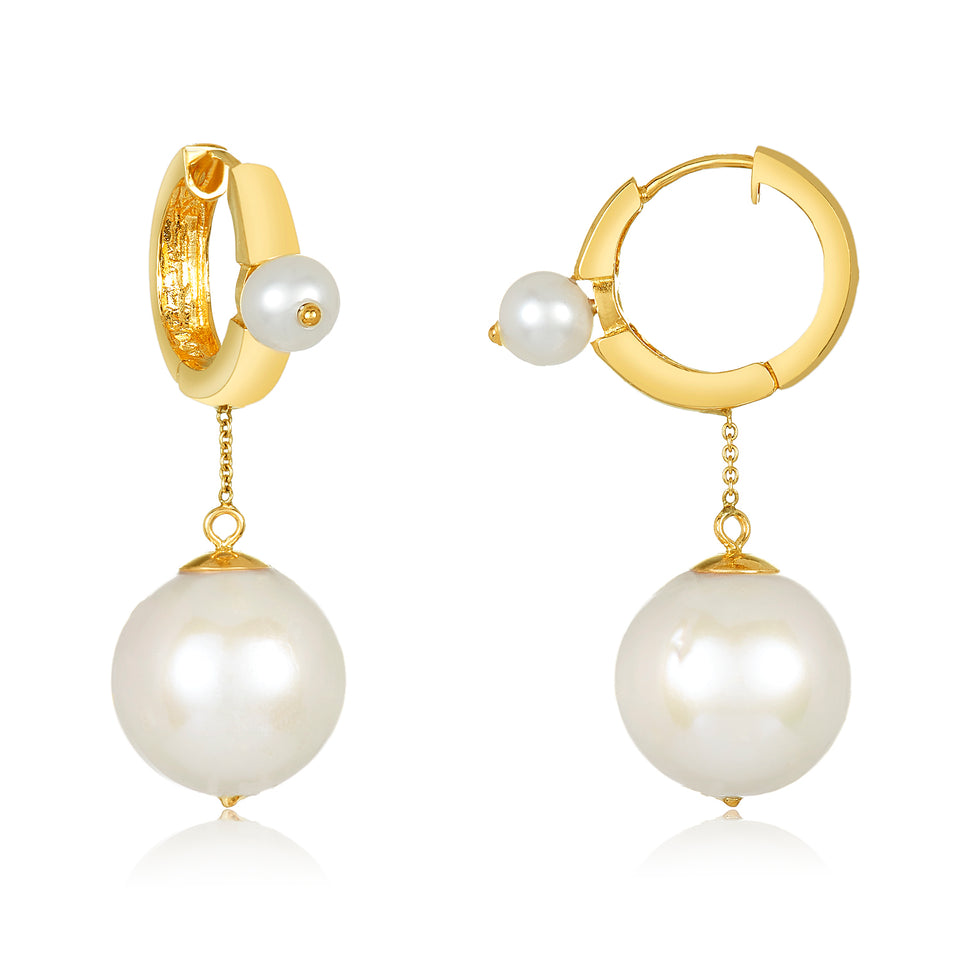 13.5mm Cultured Pearl Drop Earring