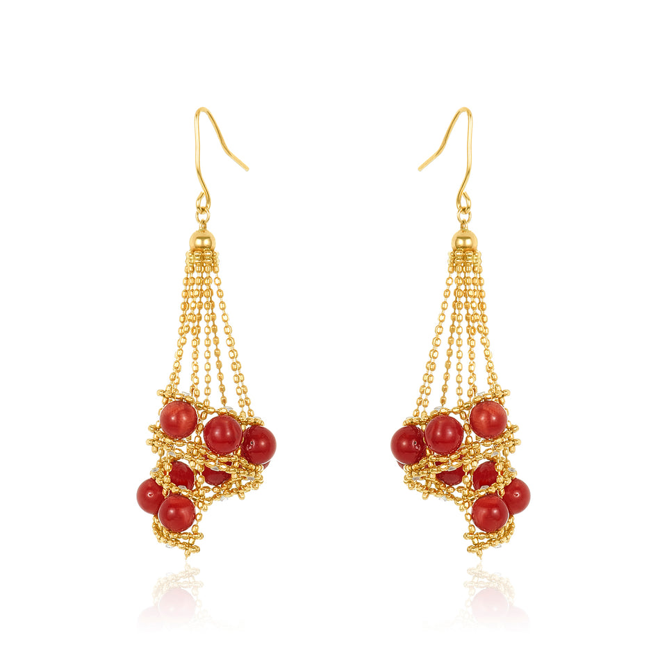 Base Coral Earring
