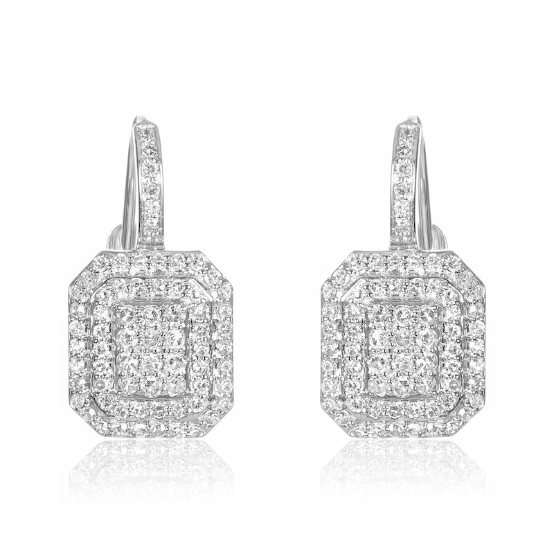 .50 Carats Lever Back Diamond Earring