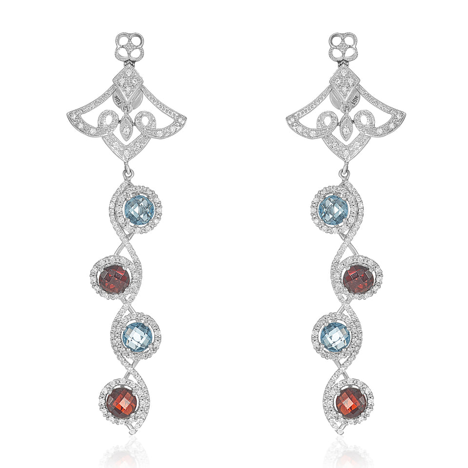 Sizzle Multi Diamond Earrings