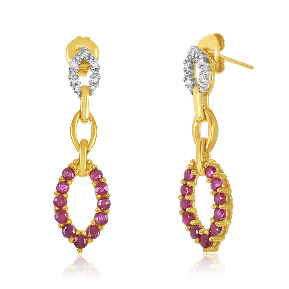Petite Ruby & Diamond Earring