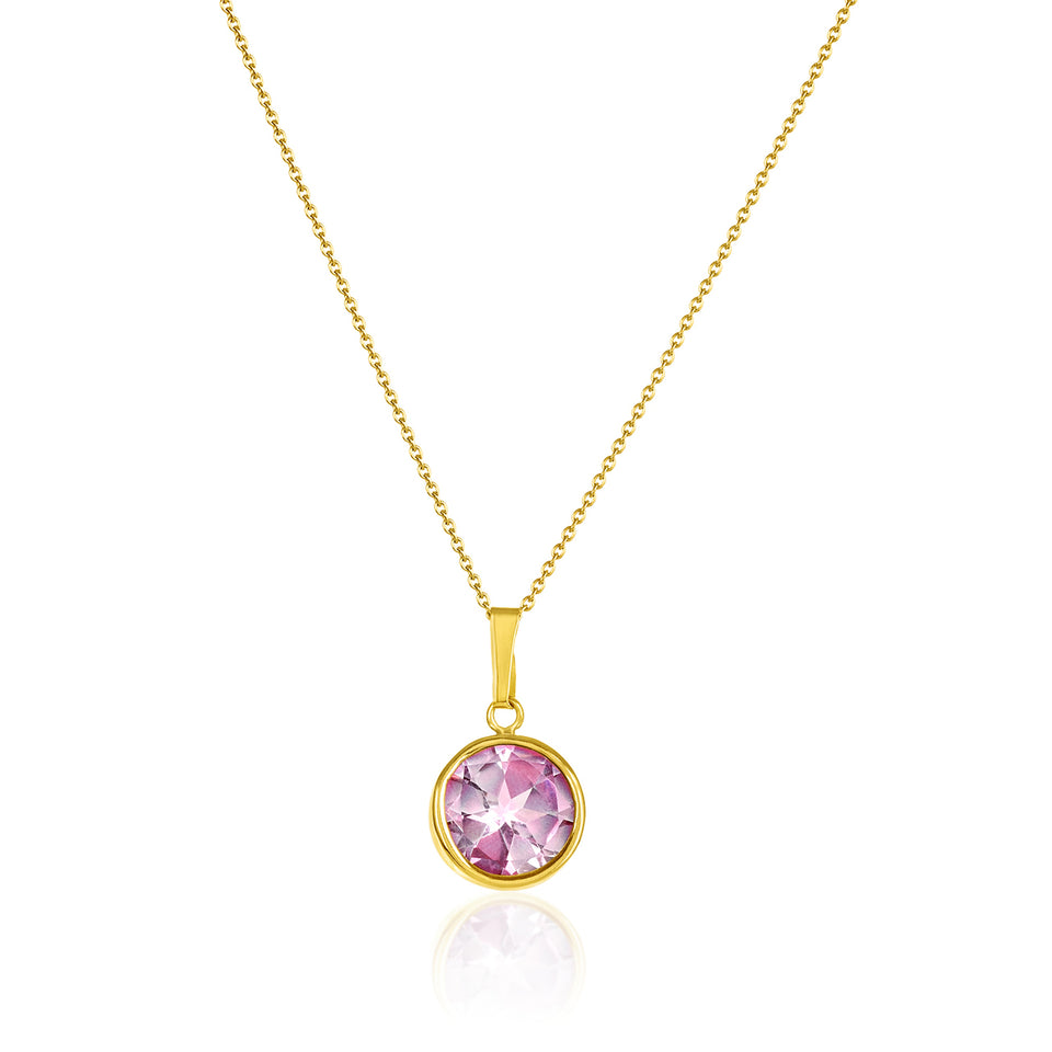 Pink Topaz Birthstone Pendant ~ October Birthstone