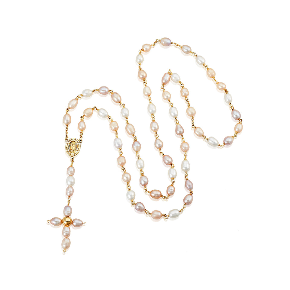 Nehita 14k Gold & Fresh-Water Pearl Rosary Necklace
